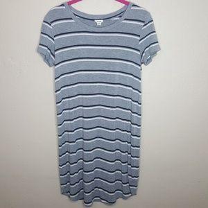 Garage XS Tshirt Dress Top Tee Striped Shirt Gray